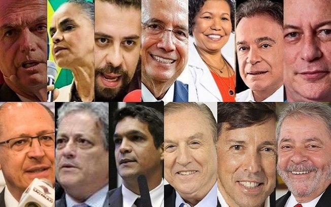 candidatos 1 - Patrimônio dos 13 presidenciáveis registrados no TSE chega a R$ 834 milhões