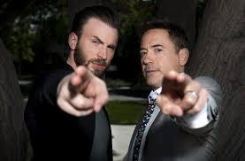 download 24 - Robert Downey Jr. deu carro estilizado do Capitão América para Chris Evans