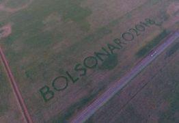 Agricultor escreve nome de Bolsonaro em plantações