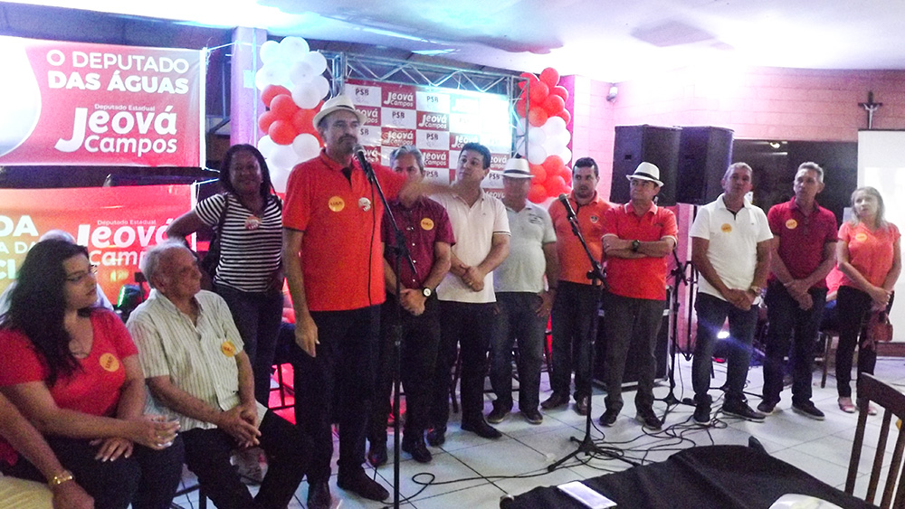 jeová 2 - Jeová Campos mostra força ao reunir dois candidatos a senador pela majoritária, outros candidatos e muitos militantes em evento em JP