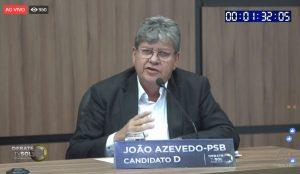 joão tv sol 300x174 - DEBATE NA TV SOL: saiba tudo que aconteceu no embate entre os candidatos ao governo