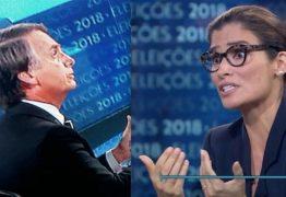 VEJA VÍDEO: 'Jamais aceitaria receber um salário menor do que o de um homem', diz Renata Vasconcellos a Bolsonaro
