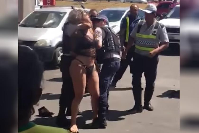 travest - VEJA VÍDEOS:  Travesti é flagrada destruindo carro de luxo, causa confusão e é presa