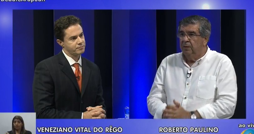 Untitlede - A TV Arapuan realiza o primeiro debate com os candidatos paraibanos ao Senado Federal