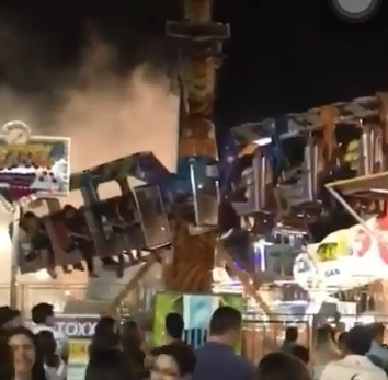 f7ffc6c184295a1abca6ecaa48995bb1 - Brinquedo de parque de diversões pega fogo e causa pânico em Sousa - VEJA VÍDEOS!