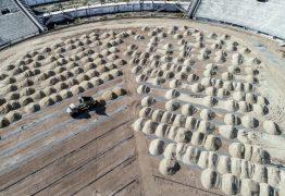 Obra avança e plantio da nova grama do Amigão pode acontecer já nesta semana