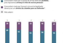 55% dos brasileiros acham que a posse de armas deve ser proibida, diz Datafolha