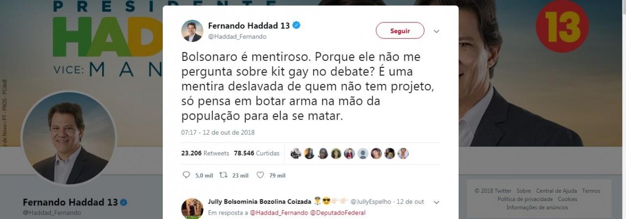twitter haddad - 'Kit Gay' Tudo que você precisa saber sobre o alvo de Bolsonaro: VEJA VÍDEOS