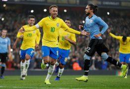 Brasil vence o Uruguai com gol de pênalti de Neymar