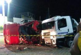 Colisão entre caminhões deixa uma pessoa ferida, no sertão da Paraíba