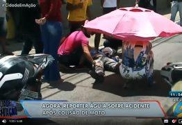 Repórter Águia da TV Arapuan fica ferido após colisão entre motos no bairro Tambiá: VEJA VÍDEO