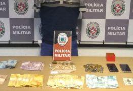Fugitivo de presídio é recapturado com drogas e mais de R$ 8 mil em Mangabeira