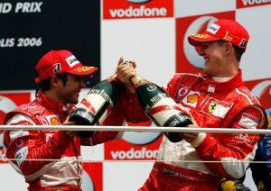 """gettyimages 71353765 TdAkFMM 300x212 - Massa diz que Schumi é o maior piloto da história e revela dica para decisão em 2008: """"Aproveite"""""""