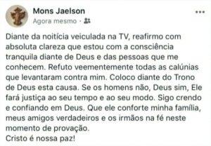 mons jaelson 696x483 300x208 - Citado em caso de exploração sexual, padre Jaelson afirma ter consciência tranquila