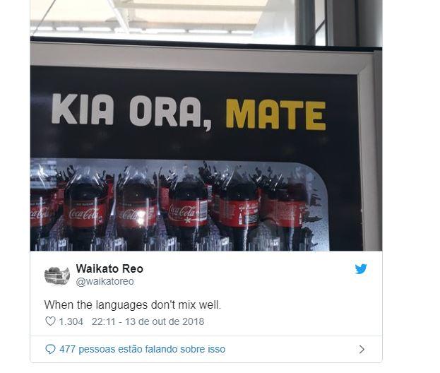 """Capturarew - Coca-Cola escreve """"olá, morte"""" em cartaz na Nova Zelândia"""
