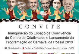 """Prefeitura de Conde lança programação oficial do """"Carnaval de Poesia"""" nesta sexta-feira"""