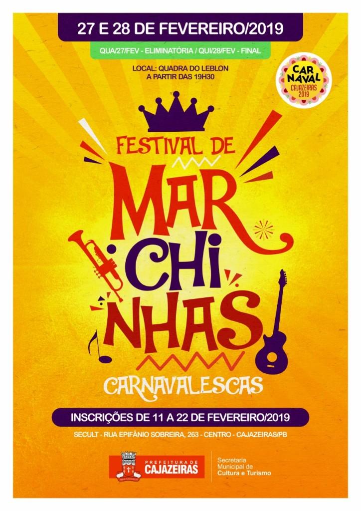 festival marchinhas carnaval - Festival de Marchinhas Carnavalescas de Cajazeiras começa hoje