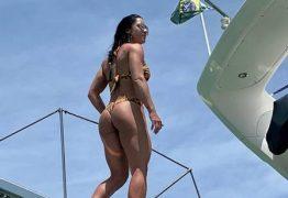 Graciele Lacerda posa de biquíni para mostrar antes e depois da dieta: 'Estava bem inchada'