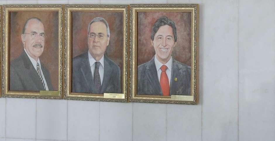 age20190306068 - QUADRO DE R$ 8,2 MIL: Eunício Oliveira é 'imortalizado' em galeria do Senado