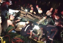 Duas pessoas morrem em grave acidente na PB-115; uma vítima é resgatada em estado grave