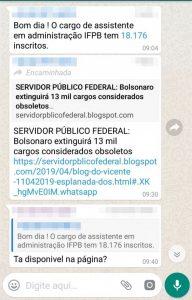 conversa grupo 1 192x300 - Candidatos denunciam suposto vazamento de informações privilegiadas sobre concurso do IFPB