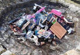 Padres queimam livros de 'Harry Potter' e 'Crepúsculo' na frente de igreja