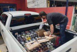 OPERAÇÃO BEBIDA LEGAL: Procon-JP apreende mais de 250 garrafas de cachaça e autua quatro depósitos