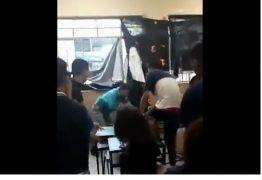 Aluno agride professor em sala de aula por não concordar com janela fechada – VEJA VÍDEO