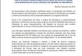 CARTA PÚBLICA: governador da Paraíba assina carta em apoio a reforma da Previdência