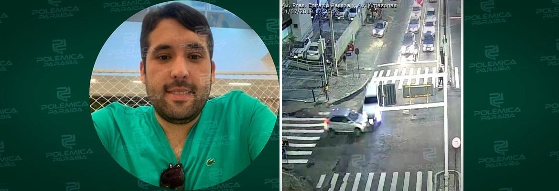 1c70ecaa e2c5 423e b163 84dc275d5285 1 - Motorista que causou acidente na Epitácio Pessoa se apresenta a polícia e é liberado em seguida- VEJA VÍDEO
