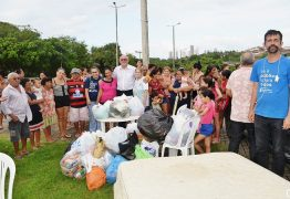 Sindicato dos Bancários entrega doações às vítimas das chuvas na comunidade Padre Hildon Bandeira