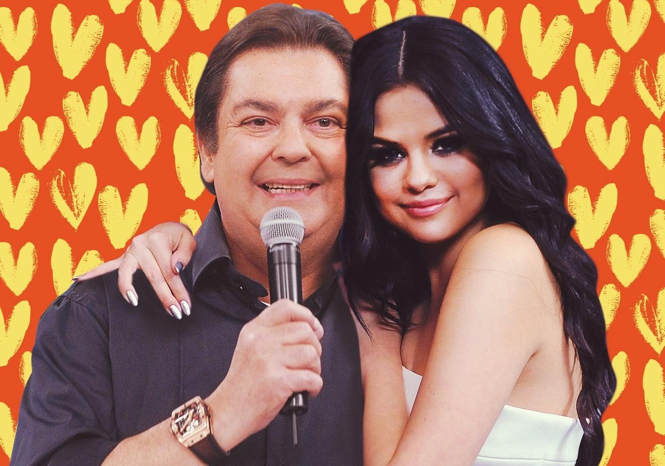 Faustao e Selena Gomez - Fausto Silva é 'desmascarado' pela Globo e tem 'romance com amante' exposto pela emissora