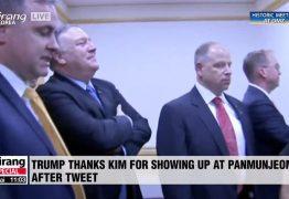 Cantora 'fuzilada' por vídeo em orgia surge na reunião de Kim e Trump