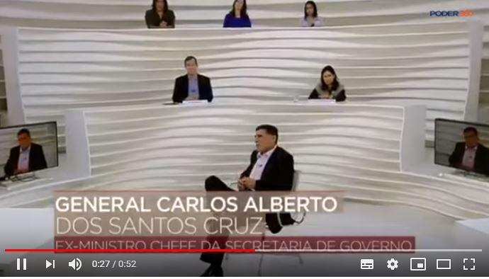 gen santa cruz - Apresentador acusa Roda Viva de 'censura velada' a entrevista com Santos Cruz
