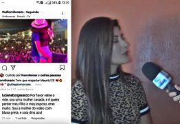 Mulher casada que beijou cantor em show vai à Justiça e diz que marido não é corno; VEJA VÍDEO