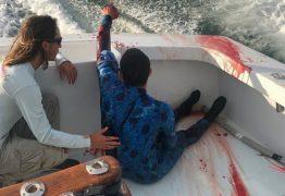 Tubarão ataca mergulhador durante sessão de pesca e mergulho – VEJA VÍDEO
