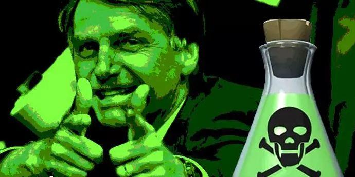 BOLSONARO VENENO - Como Bolsonaro pulveriza veneno no PT mas, morre também pelo efeito da inalação - Por Gilvan Freire