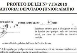 DECISÃO: Projeto de deputado paraibano proíbe cobertura sensacionalista em casos de suicídio