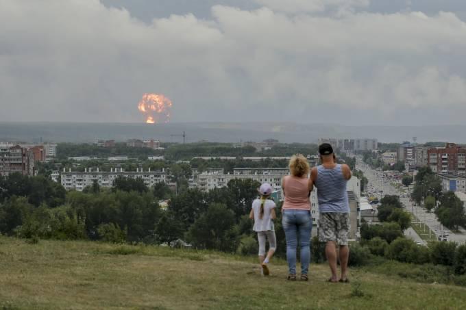 ap19218309404497 - Rússia: Nível de radiação aumentou 16 vezes após explosão em base