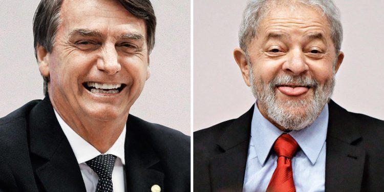 bolsonaro e lula 750x375 - DATAFOLHA: Lula tem 72% de intenções de voto no Nordeste; Bolsonaro, 20%, diz pesquisa