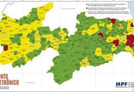 MPF lança mapa do ponto eletrônico nas unidades de saúde da Paraíba