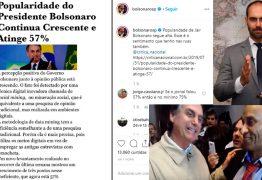 Eduardo Bolsonaro divulga 'pesquisa' fake que diz que popularidade do pai está crescendo