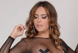 Geisy Arruda sensualiza em foto com lingerie transparente