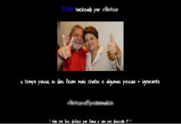 INVASÃO: Site do PSDB é hackeado e mostra foto de Lula e Dilma
