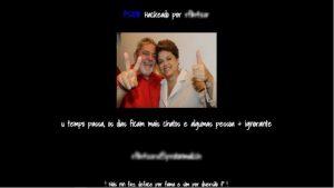 site psdb hackeado lula e dilma 300x169 - INVASÃO: Site do PSDB é hackeado e mostra foto de Lula e Dilma
