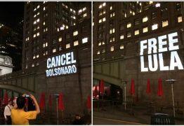 Hotel que Bolsonaro está em Nova Iorque é alvo de projeções de protesto e 'Lula livre'