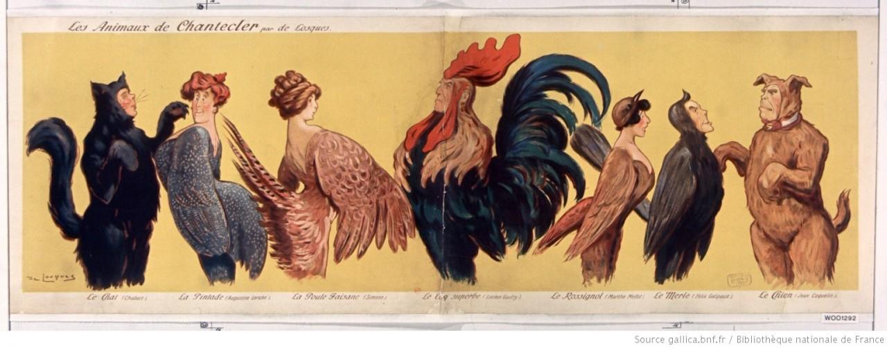 Les Animaux de Chantecler btv1b9005237k - Na fábula de Edmond Rostand, o 'Galo de Chantecler' é Ricardo Coutinho - Por Nonato Guedes