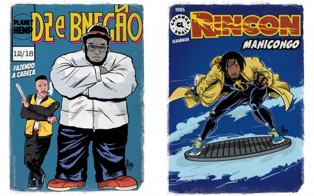 d2 bnegao hulk wolverine 1 1024x642 - 'Perifa Geek': rappers brasileiros viram super-heróis em quadrinhos