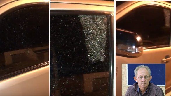 gulherme - Vereador sofre atentado e tem carro alvejado por tiros a caminho de sessão em Livramento - VEJA VÍDEO