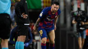 messilesao 1280x720 300x169 - Barcelona vence Villarreal por 2 a 1 mas Messi sai de campo com dores